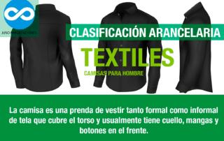 Agencia Aduanal Juso Impo clasificación arancelaria camisas de hombre