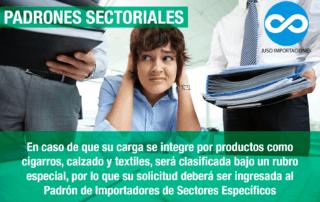 Agencia Aduanal Juso Importaciones México padrones sectoriales